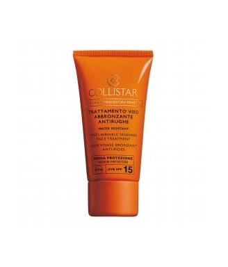 Solare Collistar Trattamento Viso Abbronzante Antirughe Media SPF 15, 50 ml - protezione viso