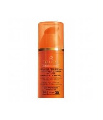 Solare Collistar Crema Viso Abbronzante Protezione Globale Anti-Età ultra-rapida SPF 30, 50 ml - Protezione viso