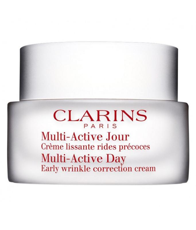 Clarins Multi-Active Jour Creme Lissante, Crema Giorno per Tutti i Tipi di Pelle 50 ml