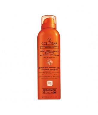 Solare Collistar Spray Abbronzante Idratante Maxi-Taglia Media SPF 20, 200 ml - protezione corpo e capelli