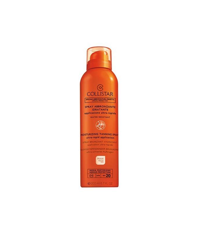 Collistar Spray Abbronzante Idratante Maxi-Taglia Media SPF 20, 200 ml