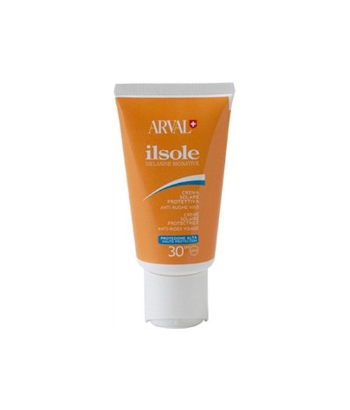 Arval Il Sole Crema Solare Protettiva Antirughe Viso anti età SPF 30, 50 ml