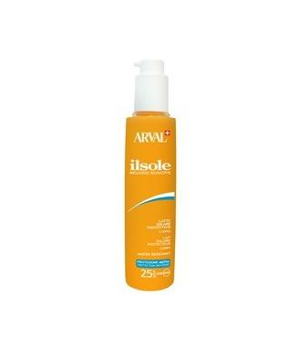 Arval Il Sole Latte Protettivo corpo resistente all'acqua SPF 25, 200 ml