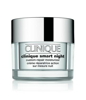 Clinique Smart Night Crema riparatrice su misura da notte, 50 ml - Pelle del viso tendenzialmente oleosa (TIPO III, IV)