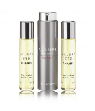 Chanel Allure Homme Sport Eau Extreme vaporizzatore da viaggio ricaricabile 3x20 ml  Offerta speciale
